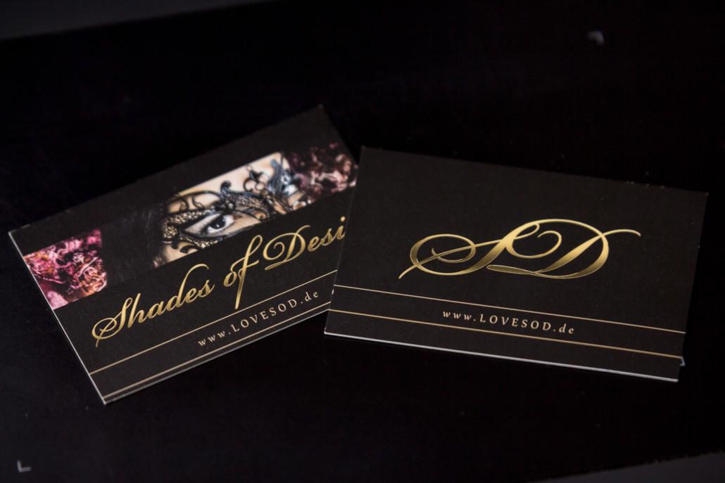 Visitenkarten Mit Relieflack Shades Of Desire