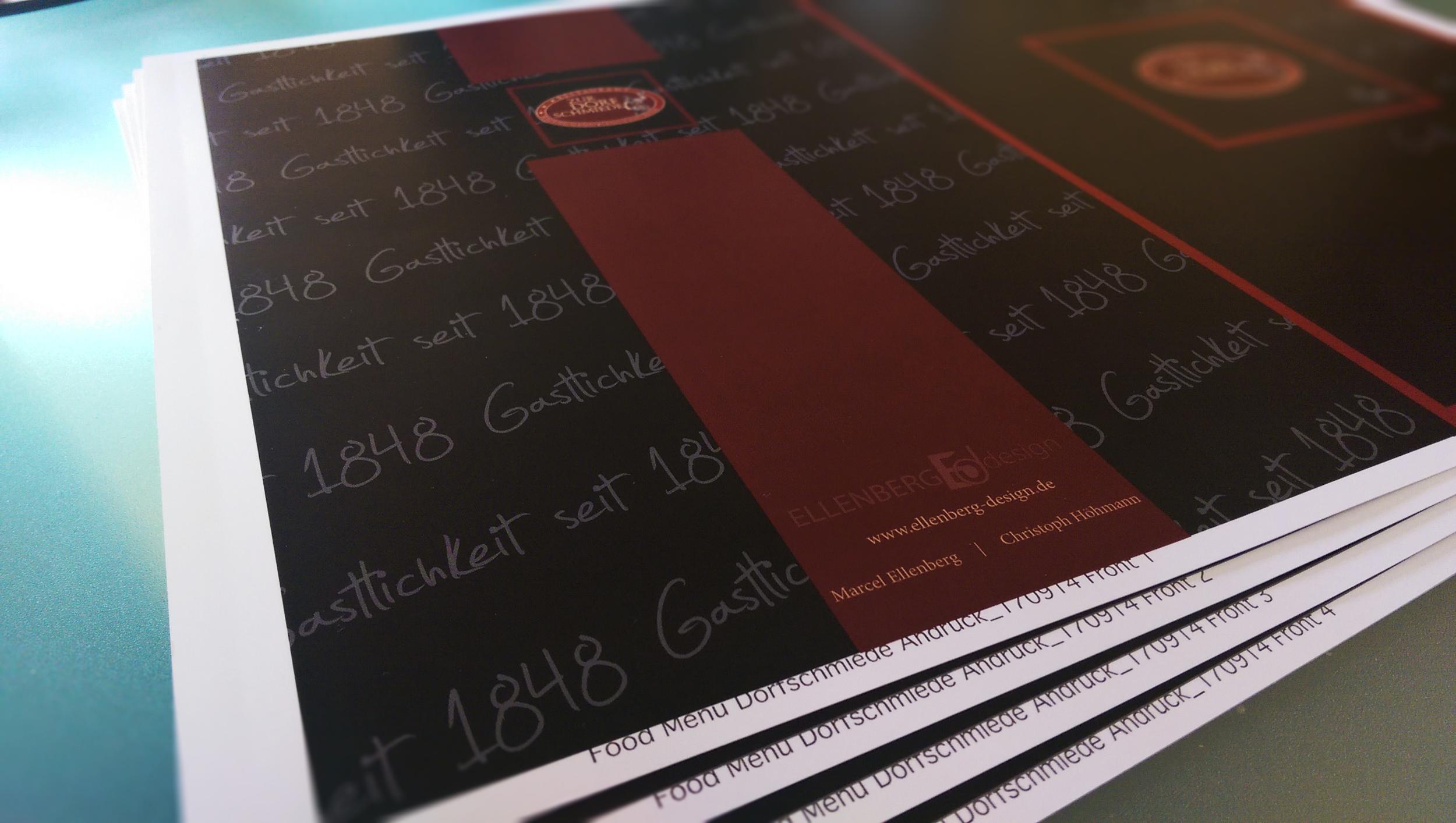 Gestaltung Speisenkarte