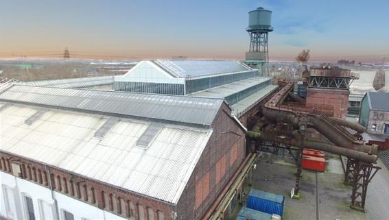 jahrhunderhalle Bochum aus der Luft - Drohnenaufnahmen