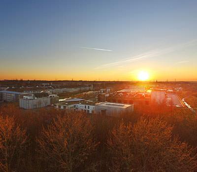 Sonnenuntergang mit der Drohne
