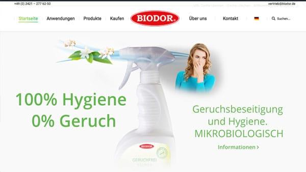 Webseite für Markenaufbau