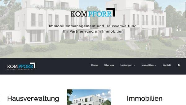 Homepage für Hausverwaltungen