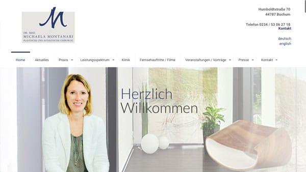 Homepage Schönheitschirurgin Dr. med. Montanari
